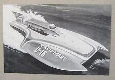 circa 1973 U-16 BOB GILLIAM VALU-MART hydroplane boat racing b&w promo print