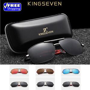a6a50d04a7 Image is loading KINGSEVEN-2018-Brand-Men-Aluminum-Sunglasses-HD-Polarized-