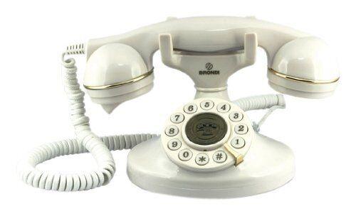 Telefono Fijo Antiguo Retro Vintage Años 20 Blanco Grandes Teclas Escritorio