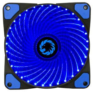 GameMax-32x-LED-Blue-12CM-120mm-Fan-Cooler-Case-PC-Computer-Cooling-3-4-Pin