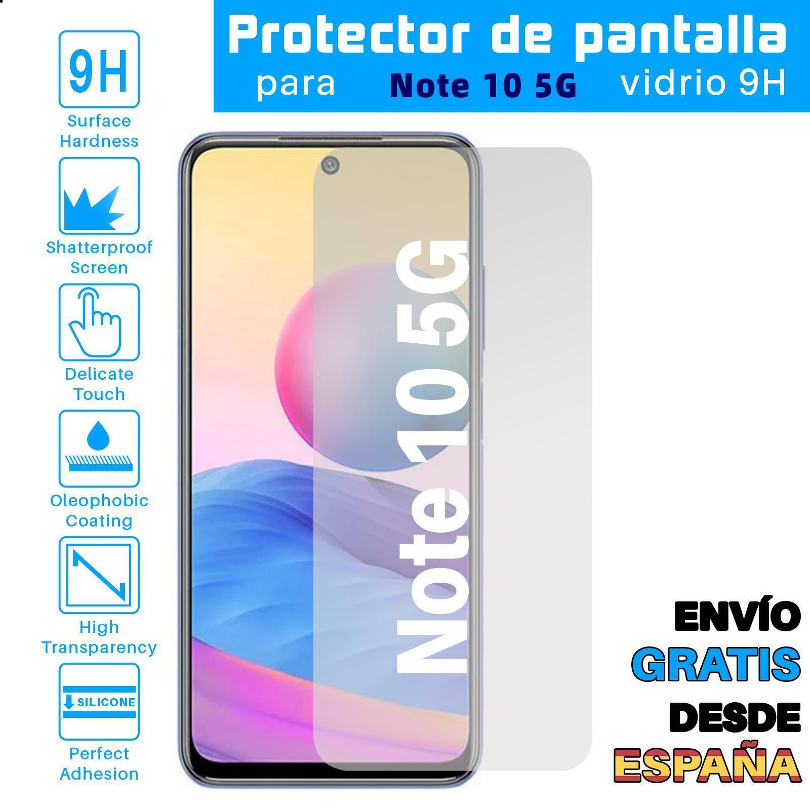 Protector de Pantalla para Xiaomi Redmi Note 10 5G Cristal Templado Vidrio