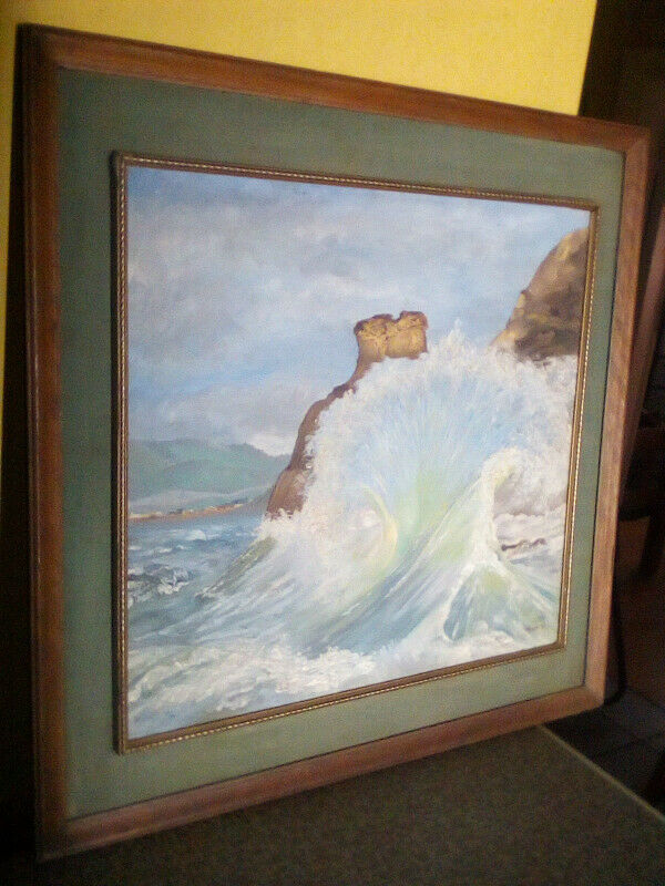 Framed vintage seascape