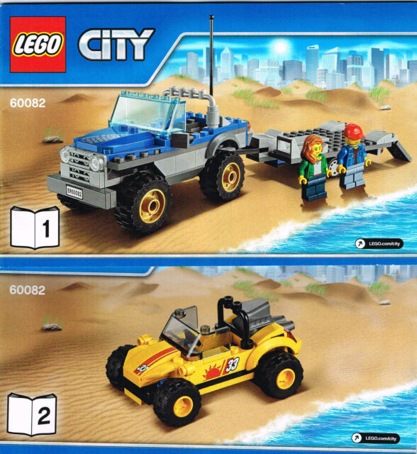 LEGO 60082 NEW Instruction Books (2) for Lego City Dune Buggy Trailer - Booklet