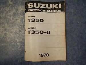 1970-SUZUKI-T350-REBEL-PARTS-CATALOGUE-MANUAL-2ND-EDITION-70-T-350-I-II