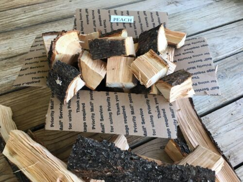 southern sweet PEACH 10 inch mini logs SMOKING WOOD