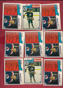 9-X-1983-84-OPC-WINNIPEG-JETS-DALE-HAWERCHUK-2ND-YEAR-CARD