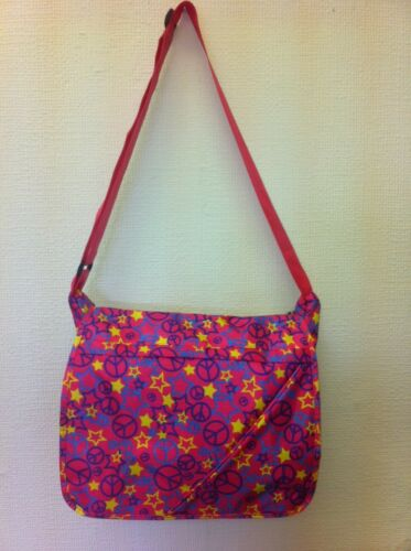 Wholesale Job Lot 40 x Pink Peace Messenger Shoulder Bag School College Bag