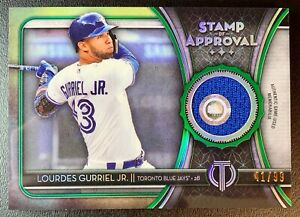 LOURDES GURRIEL JR. 2020 Topps Tribute Stamp of Approval Patch Relic SP /99