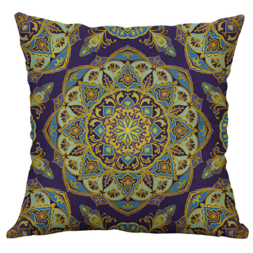 "18/"" Mandala Pattern Cotton Linen Cushion Cover Throw Pillow Case Home Decor"