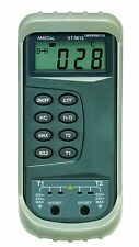 AMECaL ST-9612 Dual Input Industrial Thermometer for Type K Thermocouples