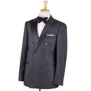 1cf890c8cebb7f NWT $5145 BRUNELLO CUCINELLI Gray Soft Wool-Cashmere Tuxedo Slim 38 ...
