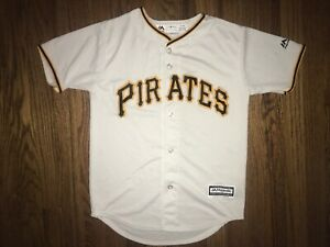 the best attitude 27ab6 53c50 Details about Pittsburgh Pirates Youth Jersey Medium Majestic White  Preowned MLB