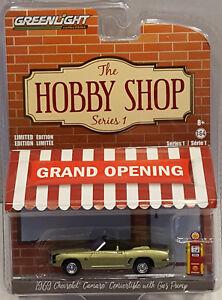Greenlight-2017-the-HOBBY-SHOP-serie-1-1969-Chevrolet-Camaro-Convertible-Vert