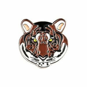Bengal-Tiger-Enamel-Lapel-Pin-Badge-Brooch-Face-Head-Conservation-Gift-BNWT-NEW