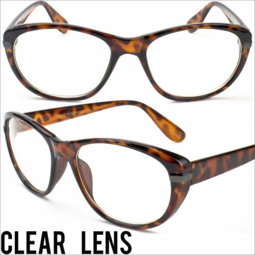 Womens Clear Lens Glasses Clear Eyewear Cat Eye Vintage Tortoise Shell New P9625