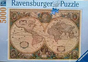 5000 piece ravensburger jigsaw puzzle antique world map new 4999 image is loading 5000 piece ravensburger jigsaw puzzle antique world map sciox Choice Image