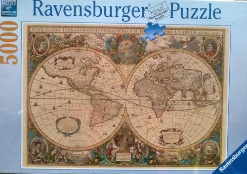 Ravensburger antique world map 5000 piece jigsaw puzzle ebay ravensburger antique world map 5000 piece jigsaw puzzle gumiabroncs Choice Image