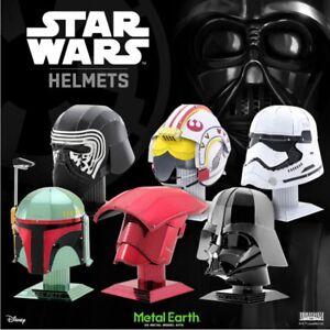 Metal-Earth-Star-Wars-Helmets-3D-Laser-Cut-Metal-Miniature-DIY-Model-Kits-New-UK