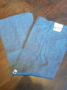 T-267-true-vintage-Mr-Wrangler-flare-leg-jeans-raw-Denim-USA-31-30