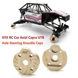 Para-KYX-RC-Car-Axial-Capra-UTB-Axle-Steering-Knuckle-Cap-Brass-Axle-Cover-Funda