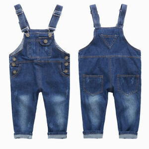 Kids-Boys-Girls-Casual-Jeans-Overalls-Bib-Denim-Pants-Jumpsuits-Outfits-Clothes