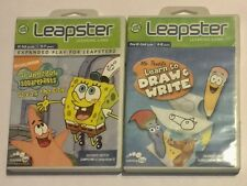 Lot of 2 Leapster Games SpongeBob Squarepants Saves the Day & Mr Pencil's Learn