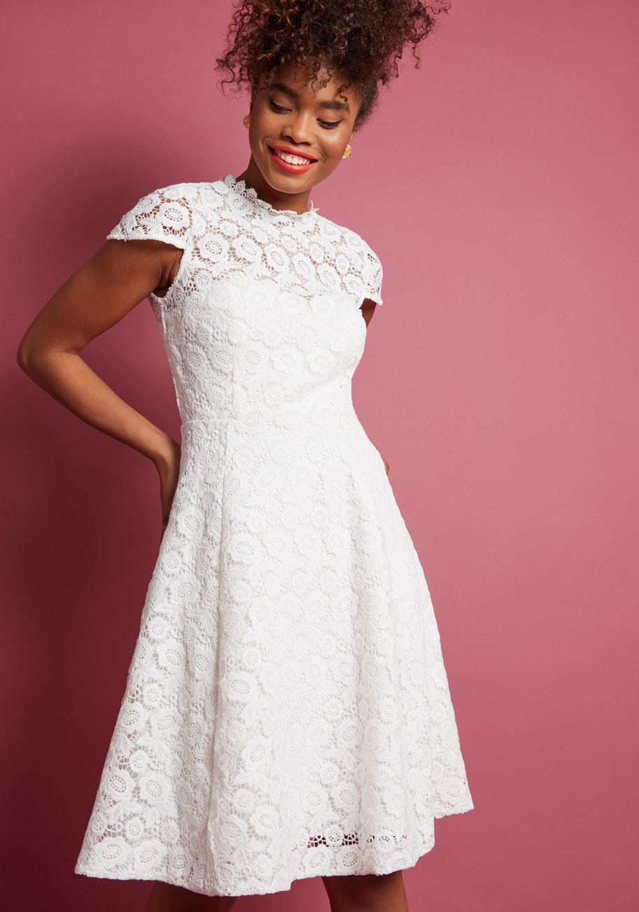 90e5aa04b66 MODCLOTH & FLARE LACE DRESS VINTAGE INSPIRED SIZE S FIT pponjb25727 ...
