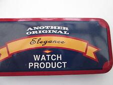 VINTAGE ELEGANCE TIN WATCH BOX,,,,,,,EMPTY TIN BOX..COLLECTOR