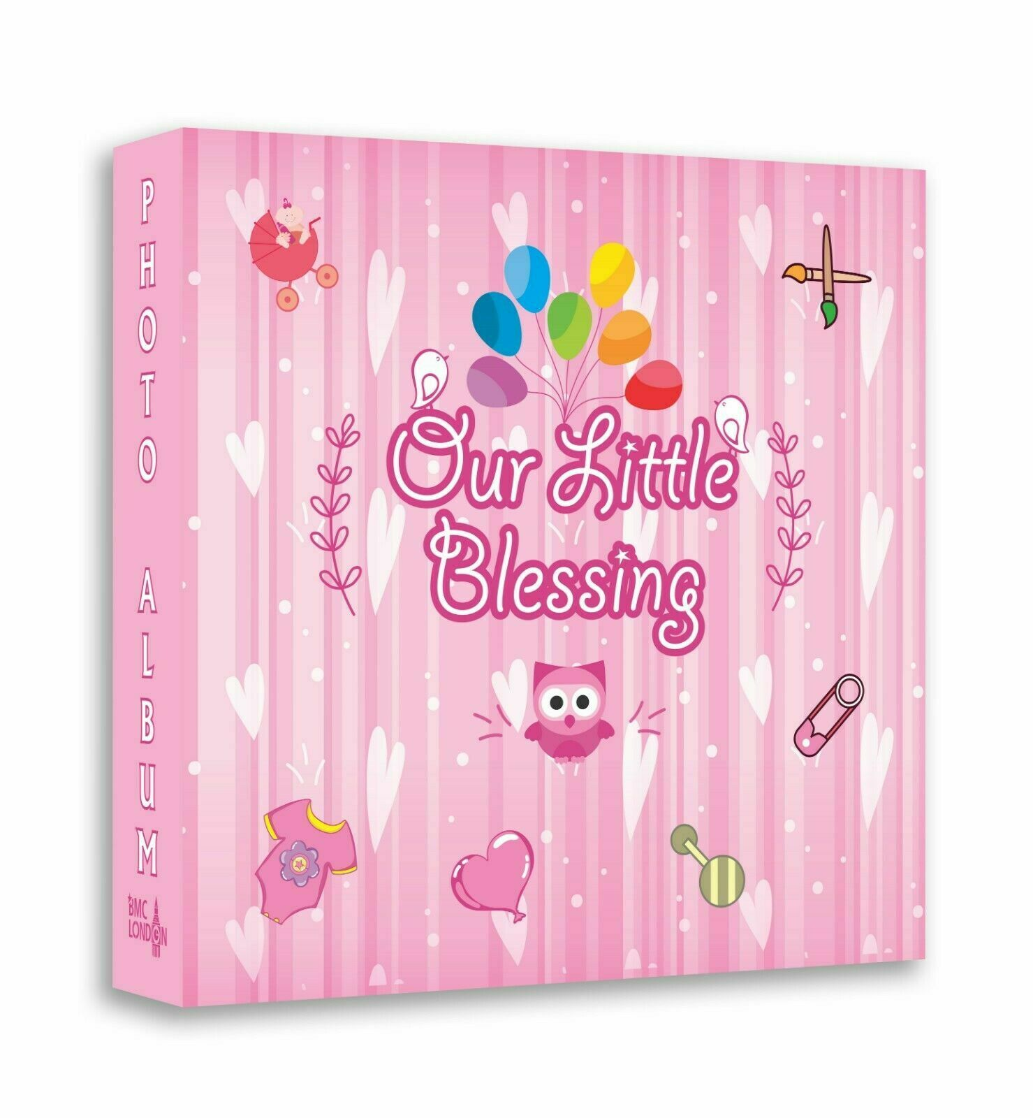 New Born Baby Girl Photo Album Holds 208 Photos 6x4 Memo Photo Book For Gift