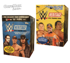2015 and 2016 Topps WWE Wrestling Heritage Blaster Boxes (2 Box Lot!)