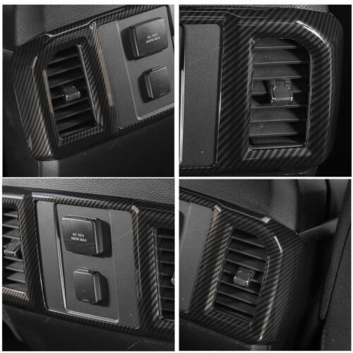 Carbon Fiber Inner Rear Air Vent Outlet  Cover Trim For Ford F150 F-150 15//16//17