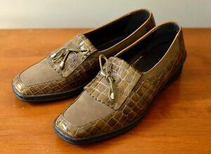 514756aa9db ARA Rachel Women s US 9  EU 40  UK 6.5 Brown Faux Croc Crocs Loafer ...