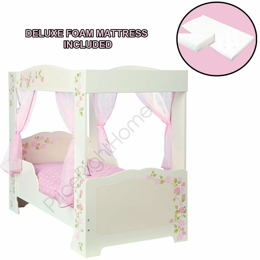 Girls 4 Affiche Bébé   Lit Junior Impression Rose + de Luxe Matelas en Mousse