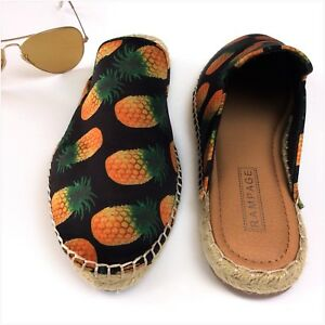 4bf892af6 Image is loading Rampage-Open-Back-Slip-On-Espadrilles-Shoes-Size-