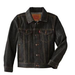 Levi-039-s-Kids-Jean-Jacket-Trucker-Red-Tab-Youth-Levi-Denim-Coat-Dark-Wash-40