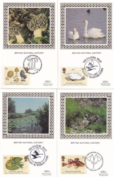 (21231) Clairance Benham Fdc Linnean Society Postcard Set 1988 Techniques Modernes