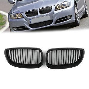Matt-Black-Rinon-Parrilla-Rejilla-Mesh-Para-BMW-E92-E93-2DR-LCI-2006-2009-A