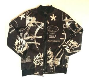 Rock-Smith-Above-And-Beyond-Classic-Material-Black-Bomber-Jacket-M
