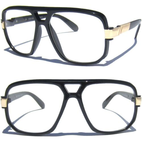 Men or Women LARGE OVERSIZE CLASSIC RETRO VINTAGE AVIATOR STYLE Clear Glasses