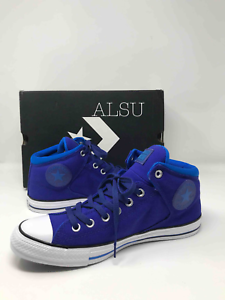 Sneakers-Men-039-s-Converse-Chuck-Taylor-All-Star-High-Top-Street-Canvas-Indigo-Blue