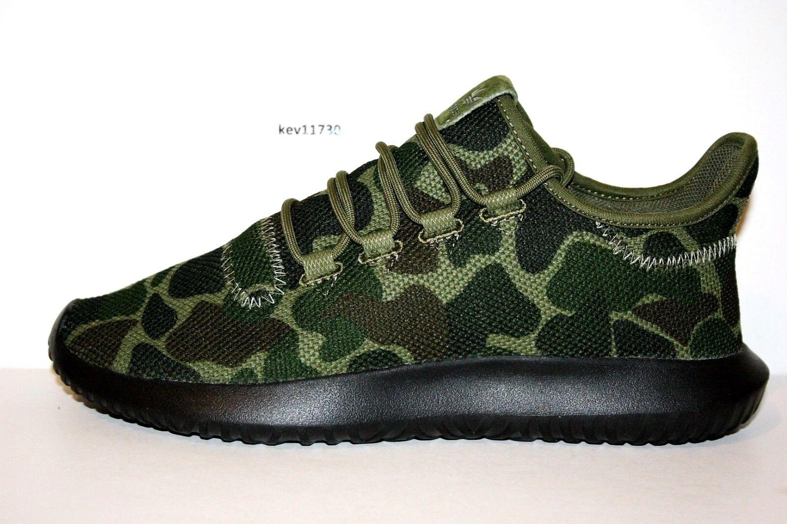 AUTHENTIC adidas Originals Tubular Shadow Knit Camo Black Green CP8682 Men size