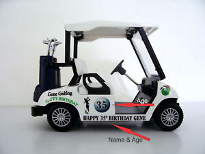 Details About Personalised For Sporting Birthday Wedding Cake Decoration Gifts Golf Cart