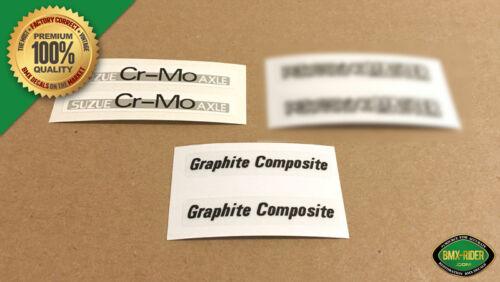 Graphite BMX Mag Wheel Decal Stickers Black Peregrine Master SUZUE for OGK