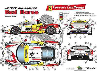 "FFSMC Productions Decals 1//18 Ferrari F-458 Challenge 2012 /""Momo/"""