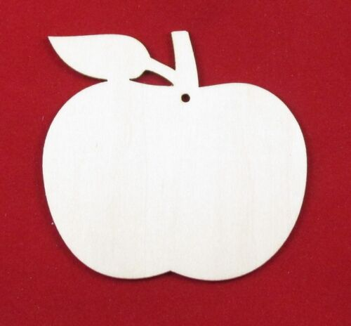 Wood Craft Apple Shapes 5cm 7cm 10cm Hanging Wooden Tags Plywood Apples Discount