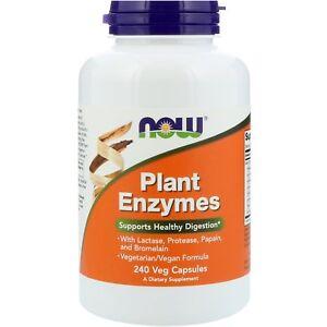 Now Foods enzimi vegetali - 240 Vcaps-Supporta la digestione sana