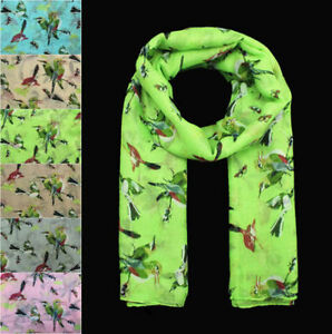 Women-Bird-Butterfly-Animal-Printing-Soft-Large-Summer-Spring-Autumn-Wrap-Scarf