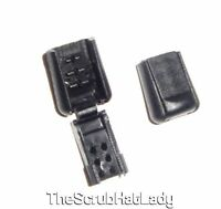 Diy Zipper Pulls Cord Ends Lock Black Plastic For Paracord 12, 25, 50, 100 Zp2