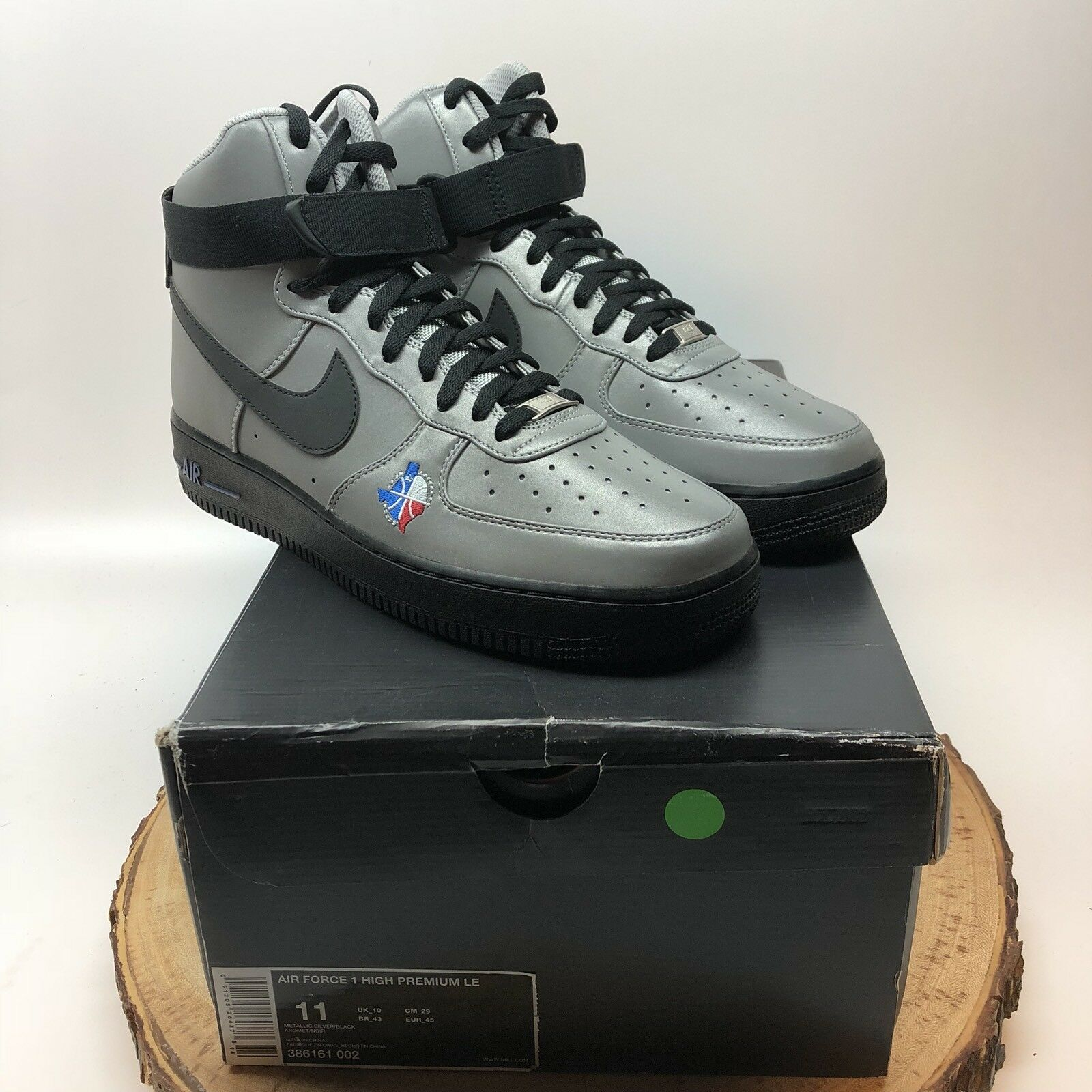 Nike air force one premio le dallas allstar gioco 3m 386161 002 44 jordan