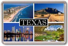 FRIDGE MAGNET - TEXAS - Large - USA America TOURIST
